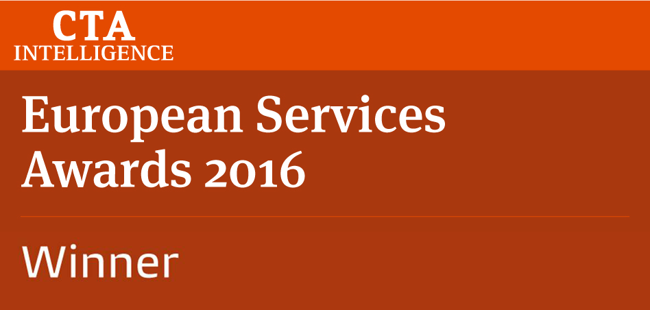 Winner 2016 CTA European Services Awards