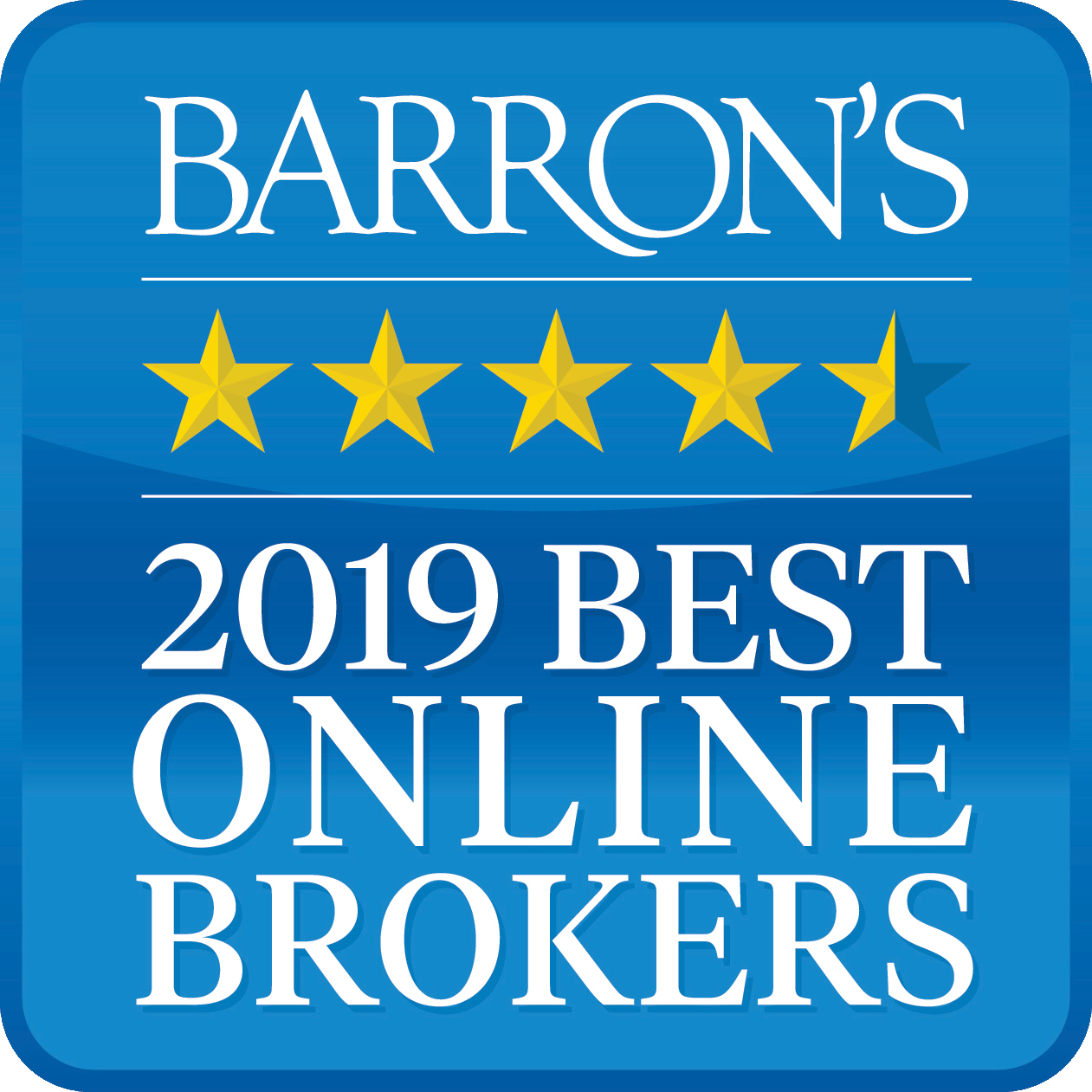 Barron's Best Oline Broker Award