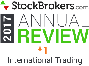 2017 Stockbrokers.com Awards - Best for International Trading